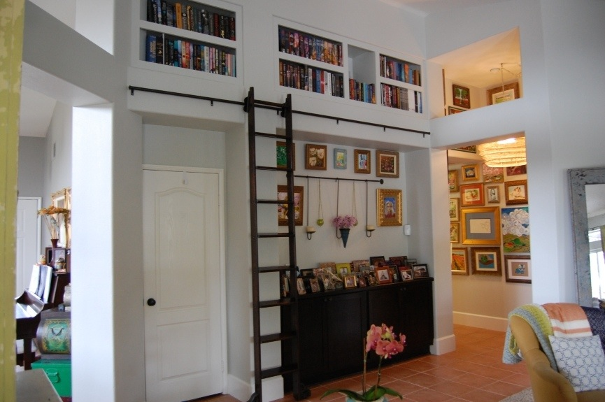 Our New Bookcases And Library Ladder